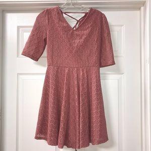 Blush Color A Line Dress Sz M
